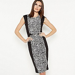 Star by Julien Macdonald - Black zebra pattern knee length dress