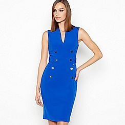 Star by Julien Macdonald - Bright Blue Tuxedo Knee Length Dress