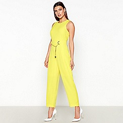 Star by Julien Macdonald - Bright Yellow Chain Detail Jumpsuit