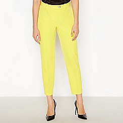 Star by Julien Macdonald - Yellow Slim Fit Cropped Suit Trousers