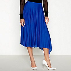 Star by Julien Macdonald - Blue Pleated Midi Skirt