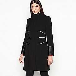 Star by Julien Macdonald - Black Zip Detail Longline Coat