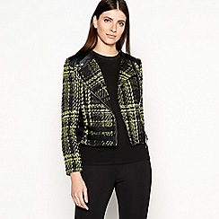 Star by Julien Macdonald - Yellow Boucle Checked Jacket