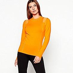 Star by Julien Macdonald - Orange knitted stud trim jumper