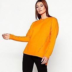 Star by Julien Macdonald - Orange stud detail jumper