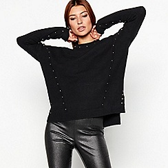 Star by Julien Macdonald - Black stud detail jumper