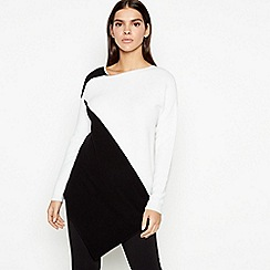 Star by Julien Macdonald - Ivory colour block ribbed jumper