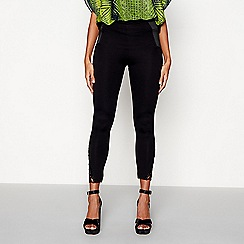 Star by Julien Macdonald - Black lace hem leggings