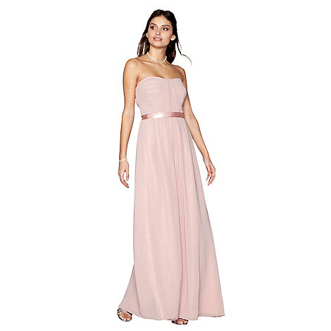 Debut Light pink \'Sophia\' bandeau bridesmaid dress | Debenhams