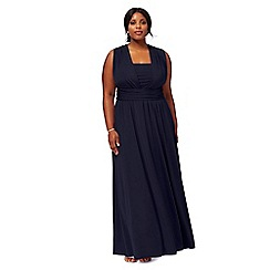 Debut - Navy blue multiway plus size evening dress