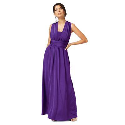 Debut Purple multiway full length evening dress | Debenhams