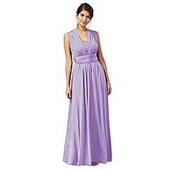 008020110154: Purple multiway full length evening dress
