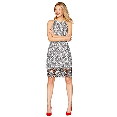 85f7893cf1460 Debut Black  Briony  knee length plus size shift dress