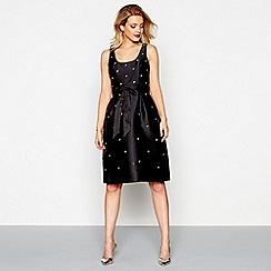 Debut - Black embellished knee length prom dress