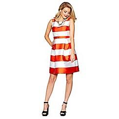 Debut - Orange 'Sophie' stripe print prom dress