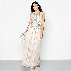 No. 1 Jenny Packham - Light pink embellished evening dress