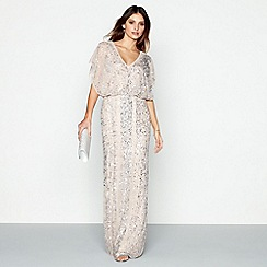 No. 1 Jenny Packham - Light pink embellished 'Anthea' V-neck maxi dress