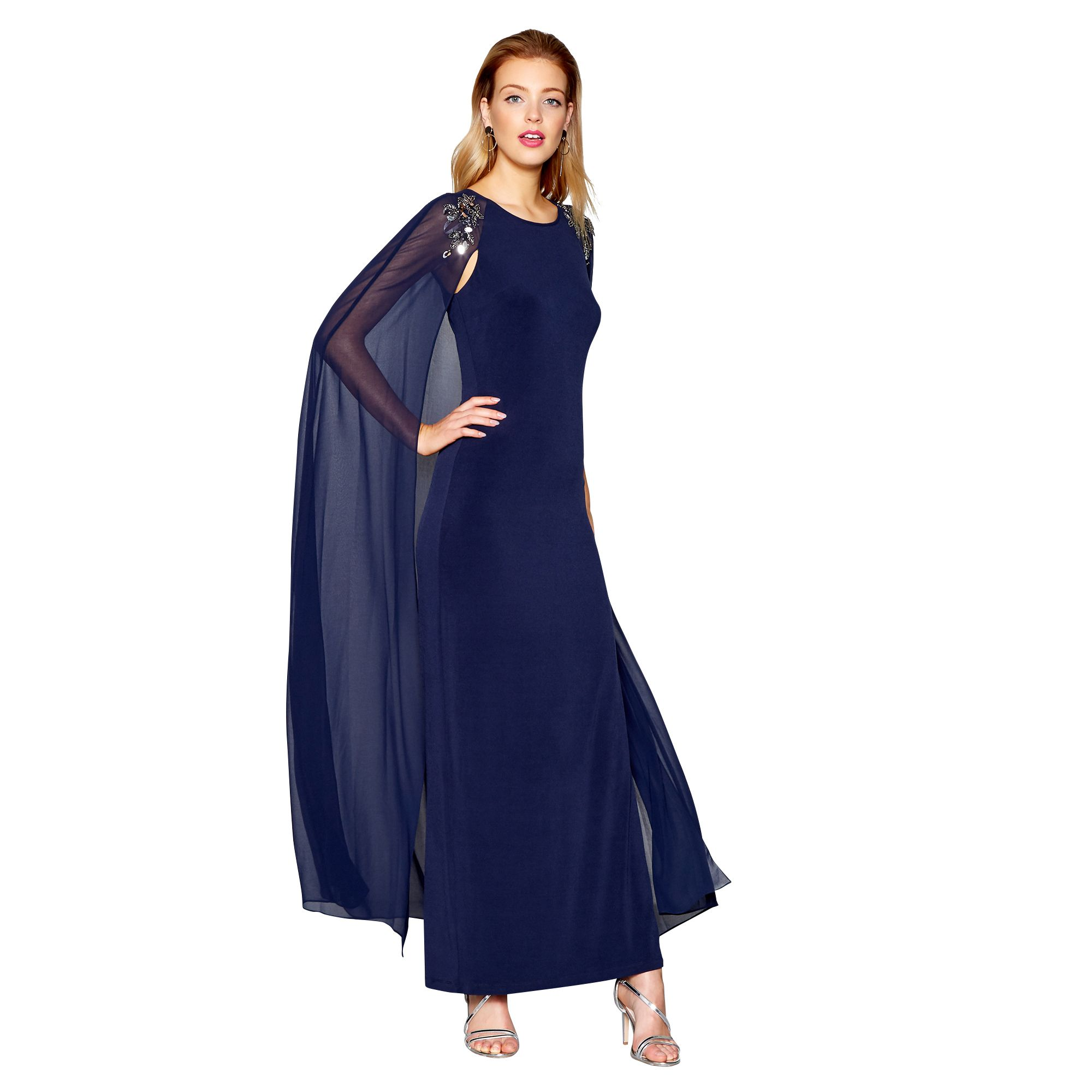 No 1 jenny packham womens blue embellished evening dress from free standard delivery on orders over 45 ombrellifo Choice Image