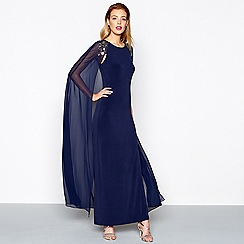 No. 1 Jenny Packham - Blue embellished evening dress