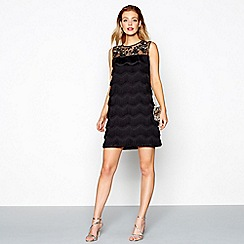 No. 1 Jenny Packham - Black embellished mini shift dress