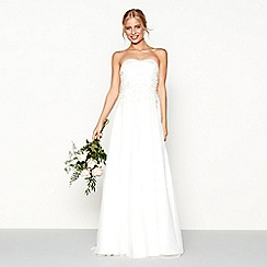 Nine by Savannah Miller - Ivory embellished 'Marilyn' strapless bridal dress
