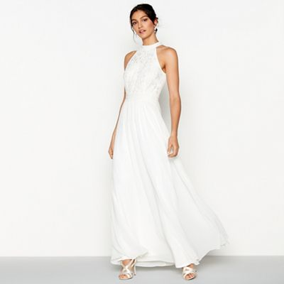 Debut   Ivory Chiffon Embroidered 'eden' Sleeveless Wedding Dress by Debut