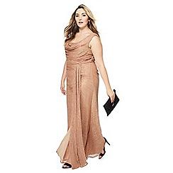Debut - Mid rose 'Alisha' cowl neck sleeveless plus size maxi evening dress