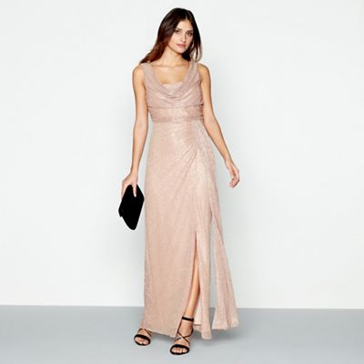 Debut Mid rose \'Alisha\' cowl neck sleeveless maxi evening dress ...