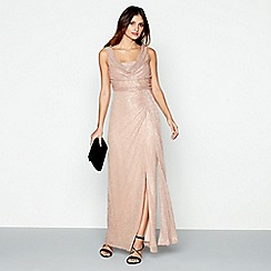 Debut - Pale pink 'Alisha' shimmer maxi dress