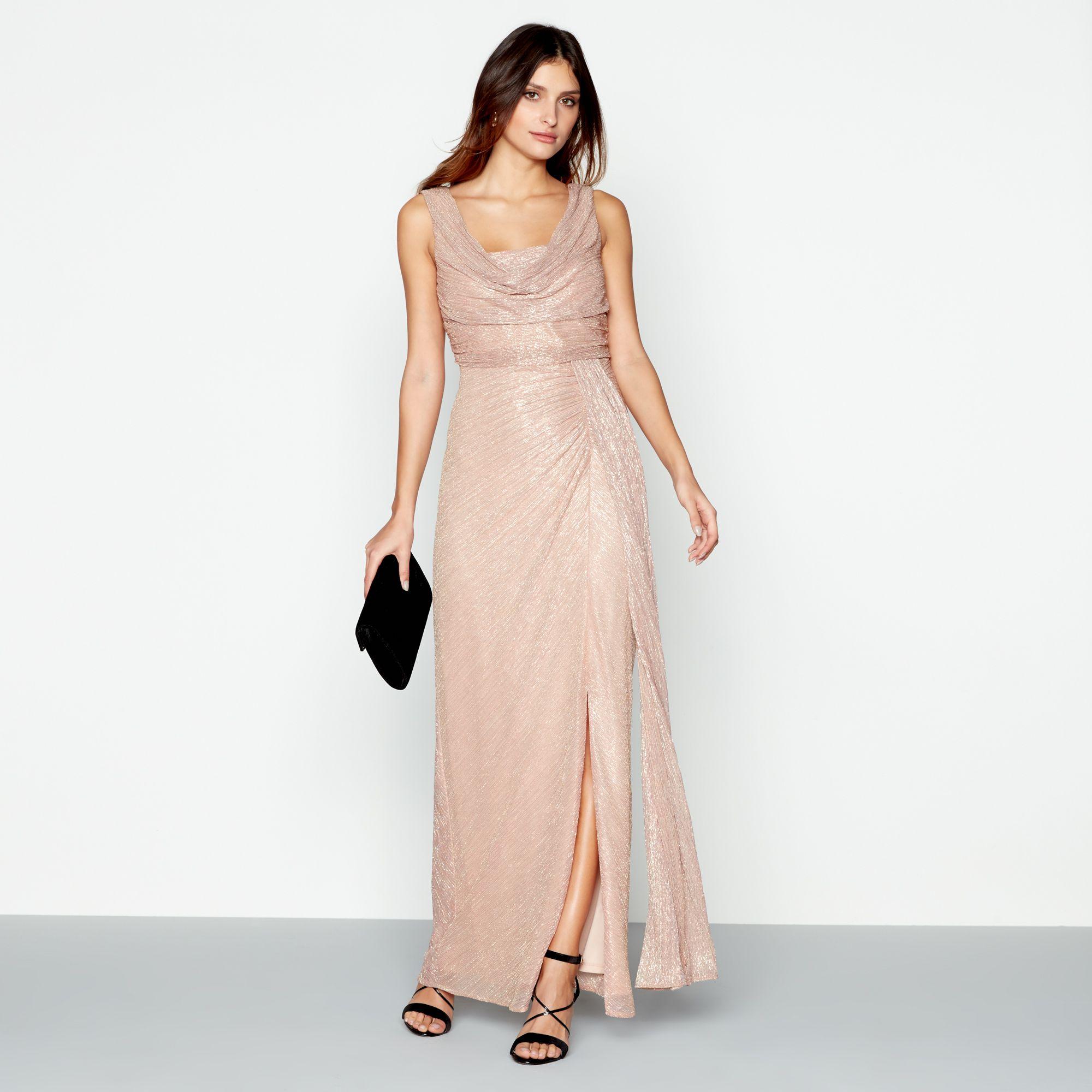 Debut rose dress ebay debut womens mid rose alisha cowl neck sleeveless maxi evening dress ombrellifo Image collections