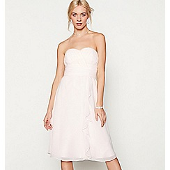 Debut - Pink chiffon 'Sara' high low bridesmaid dress