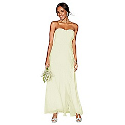 Debut - Yellow chiffon 'Sara' strapless bridesmaid dress