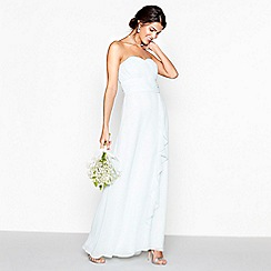 Debut - Light green chiffon 'Sara' strapless bridesmaid dress