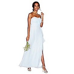 Debut - Light blue chiffon 'Sara' strapless bridesmaid dress
