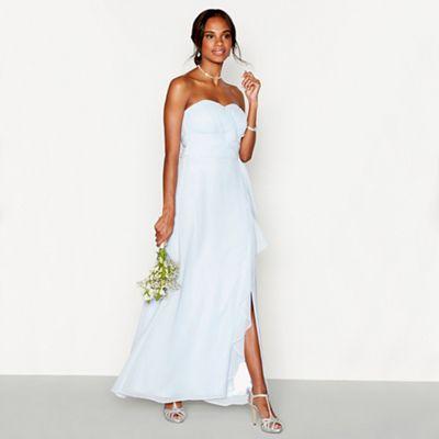 Debut Light blue chiffon  Sara  strapless bridesmaid dress   Debenhams e637b983c6