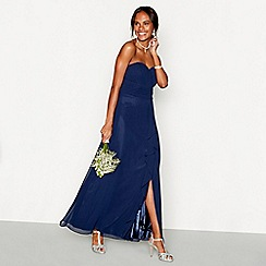 Debut - Dark blue chiffon 'Sara' strapless bridesmaid dress