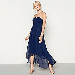Debut - Navy chiffon 'Sara' high low bridesmaid dress