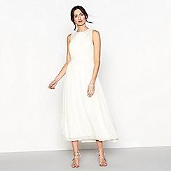 Debut - Pale yellow chiffon full length bridesmaid dress