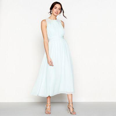 Debut   Pale Green Chiffon Sleeveless Maxi Dress by Debut
