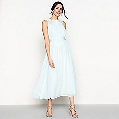 Debut - Pale green chiffon full length bridesmaid dress
