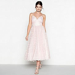 Debut - Pale pink embroidered 'Madeline' dress