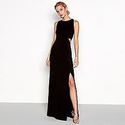 Debut - Black lace 'Kim' round neck maxi dress