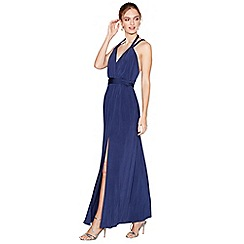 Debut - Navy jersey 'Khloe' V-neck evening dress