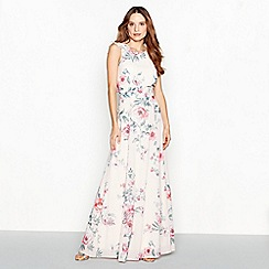 Debut - Rose floral print chiffon 'Sanderson' maxi dress