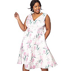 Debut - Ivory jacquard 'Jacqueline' plus size prom dress