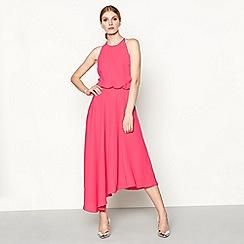 Debut - Bright pink 'Sabrina' high low evening dress