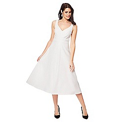 Debut - Ivory 'Pretty woman' V-neck midi prom dress