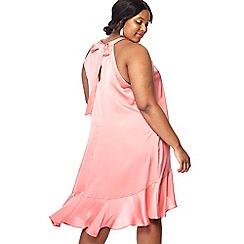Debut - Pink 'Fifi' halter neck plus size dress