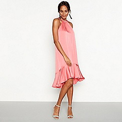 Debut - Pink 'Fifi' halter neck dress