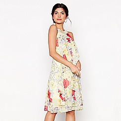 Debut - Kara yellow floral print dress